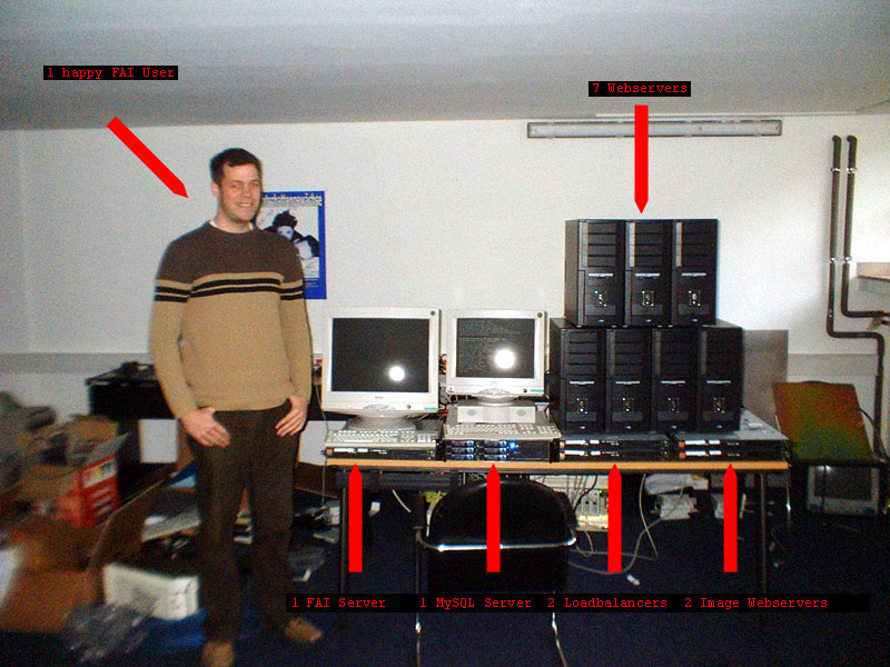 Manuel Kiessling in front of the very first MyHammer FAI server cluster
